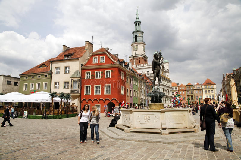 Download Poznan editorial stock photo. Image of town, colorful - 19551423