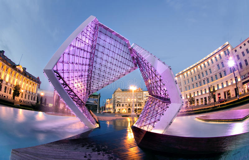 Poznan. Is a city in west-central Poland. Plac Wolnosci (Freedom square stock photo