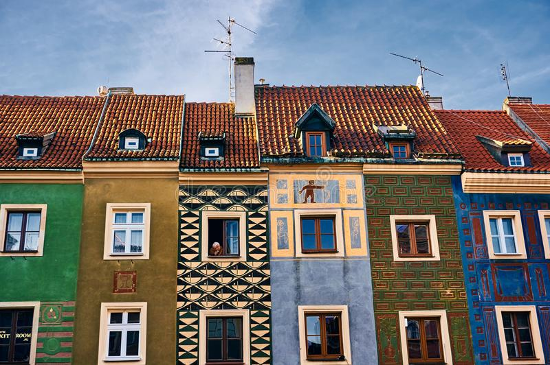 Poznan colorful building royalty free stock photography