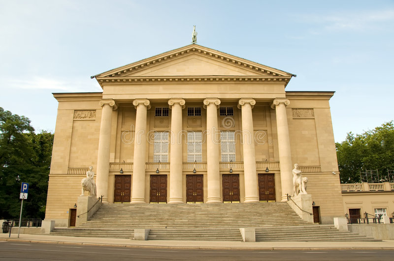 Download Poznan Opera House stock photo. Image of entrance, figures - 6031164