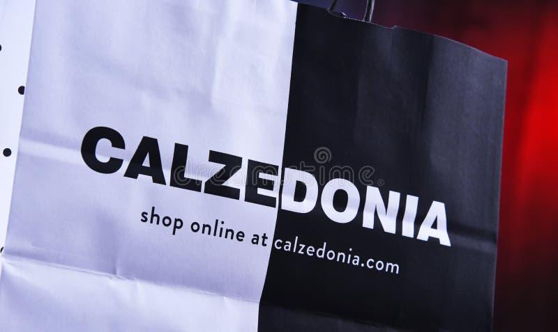 Original Calzedonia paper shopping bag stock photography