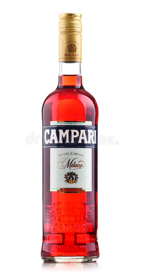 Bottle Of Campari, An Alcoholic Liqueur From Italy Editorial Stock ...