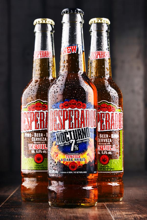 Three Bottles Of Desperados Beer Editorial Image Image Of Logo Pale 110208265