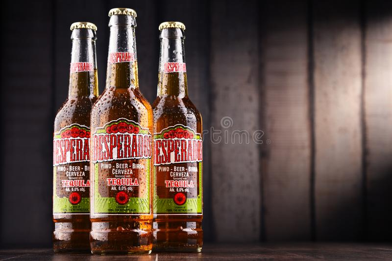 Three Bottles Of Desperados Beer Editorial Stock Photo Image Of Label Liquor 110208278