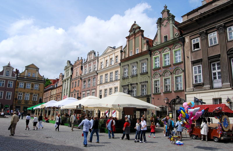 Poznan, Polen: Vierkant van de Markt van Rynek het Oude royalty-vrije stock afbeeldingen
