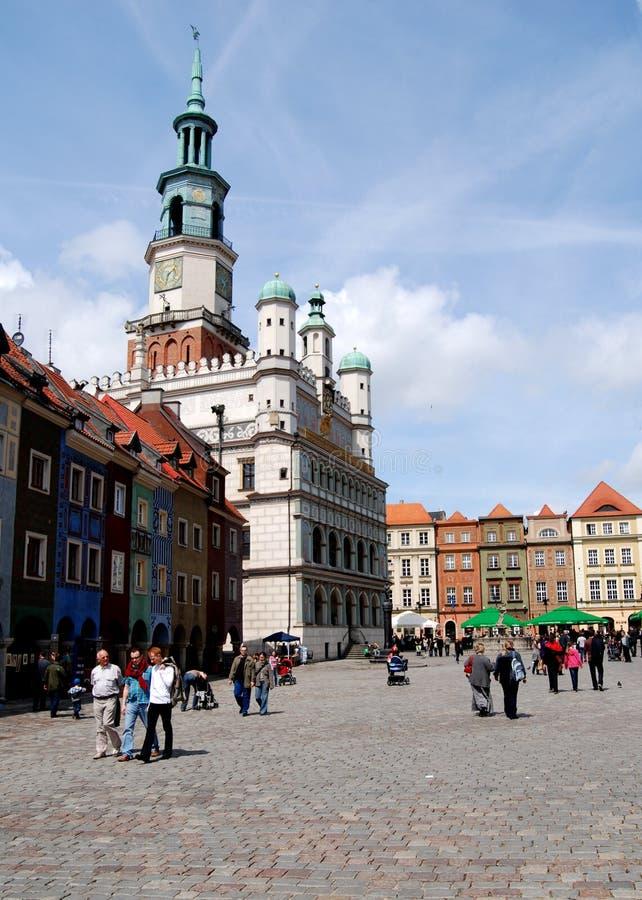 Poznan, Pologne : Grand dos du marché de Rynek photographie stock libre de droits