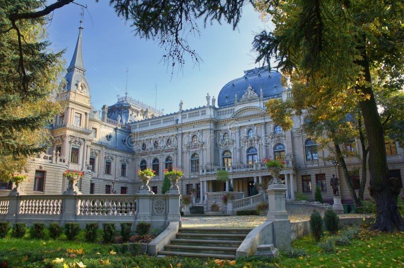 Poznanski's Palace in Lodz, Poland. Palace of textile entrepreneur - Izrael Poznanski - in Lodz, Poland stock image
