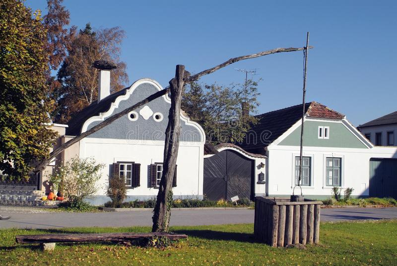 Pozo de Austria, de Burgenland, del hogar y de drenaje imagen de archivo libre de regalías