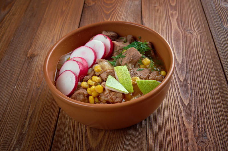 Pozole Рохо royalty free stock images
