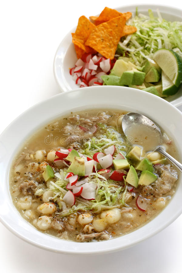 Pozole, cuisine mexicaine photo stock