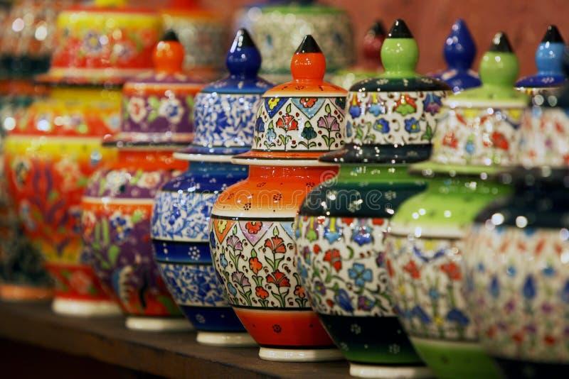Pozos de cerámica de mano turca fotografía de archivo libre de regalías