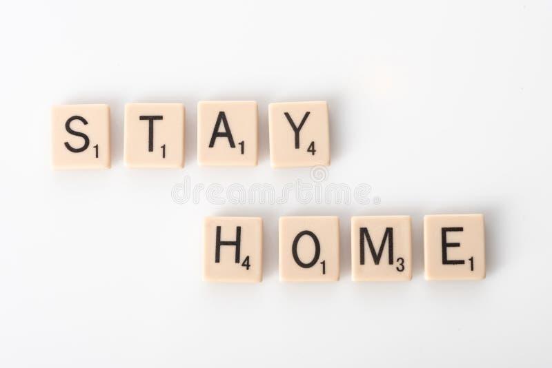 Pozostań w domu z kafelkami zdjęcia royalty free