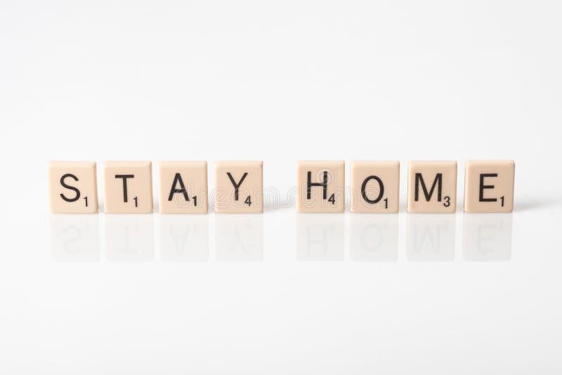 Pozostań w domu z kafelkami zdjęcia stock