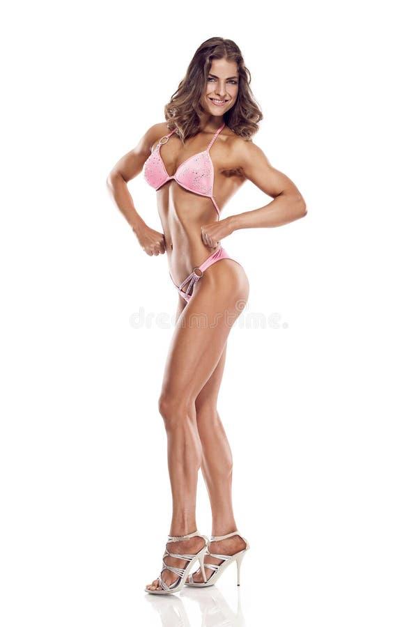 Pozować kobieta bikini sprawności fizycznej konkurenta fotografia stock
