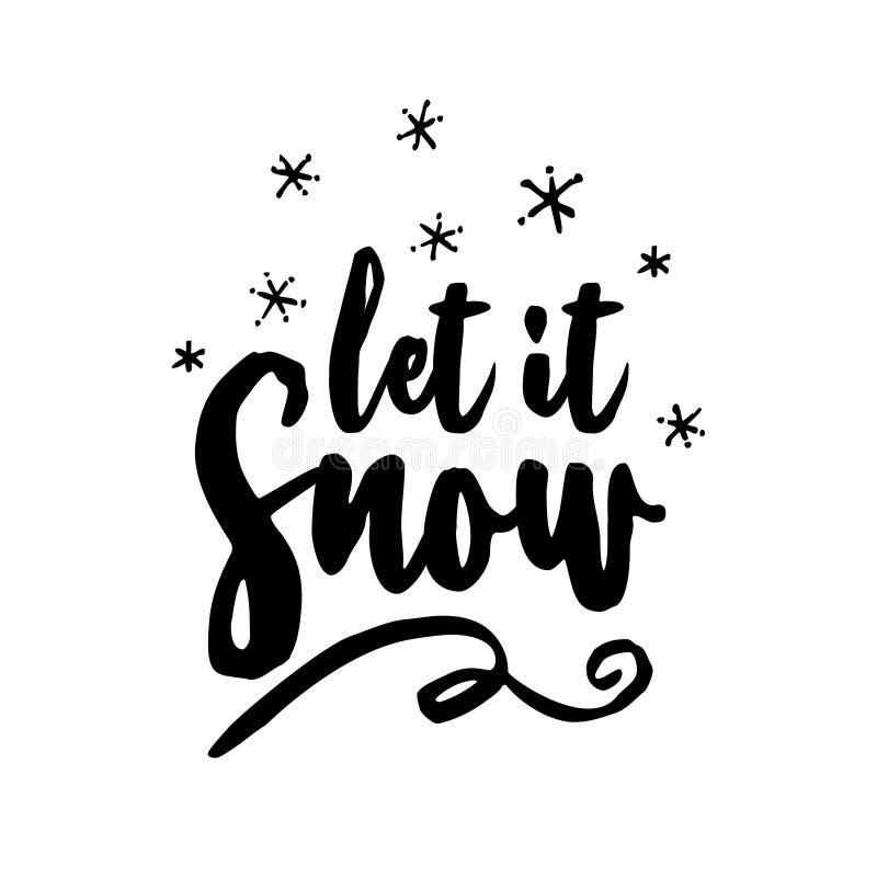 Pozwalać ja śnieżny! - kartka z pozdrowieniami royalty ilustracja