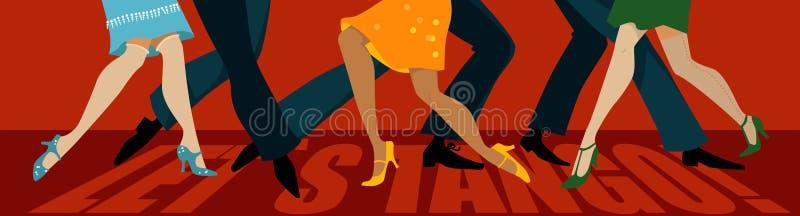 pozwalać s tango royalty ilustracja