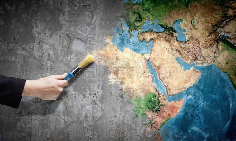 Pozwala my barwić świat obraz royalty free