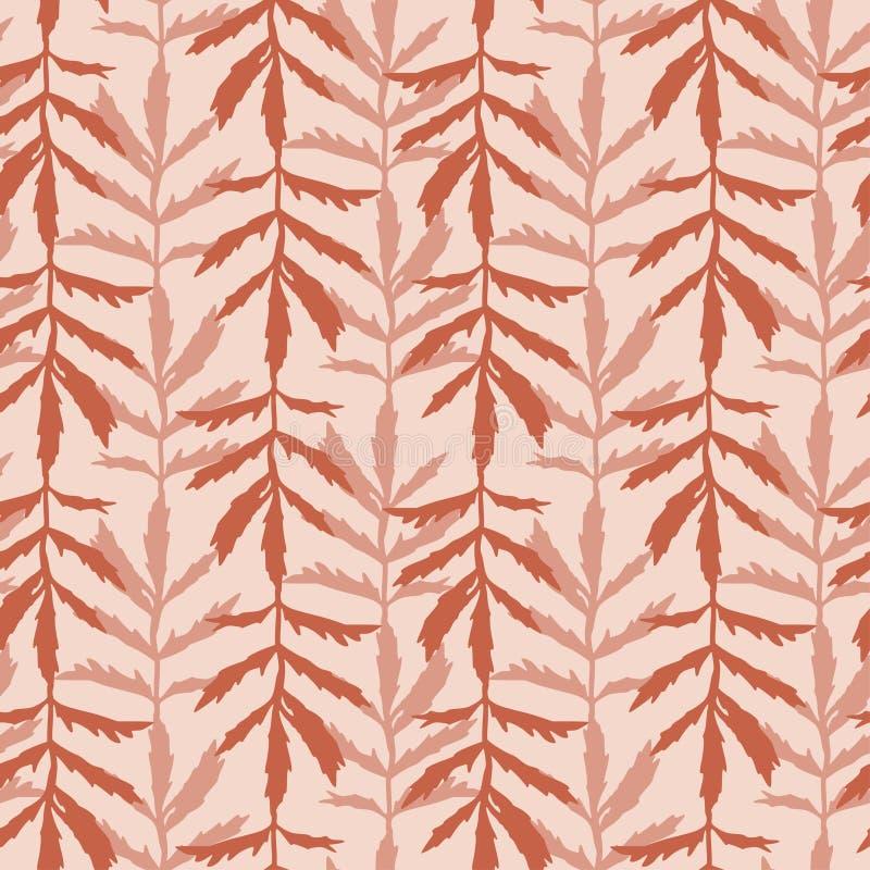 Pozwala pozostawić płynny wzorzec Jesień Wzorzec do druku tekstylnego Tekstura tapety jednobarwnej royalty ilustracja