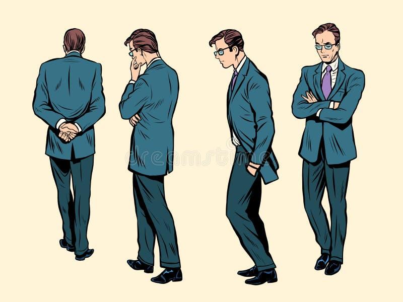 Pozy chodzący ludzki główkowanie ilustracja wektor