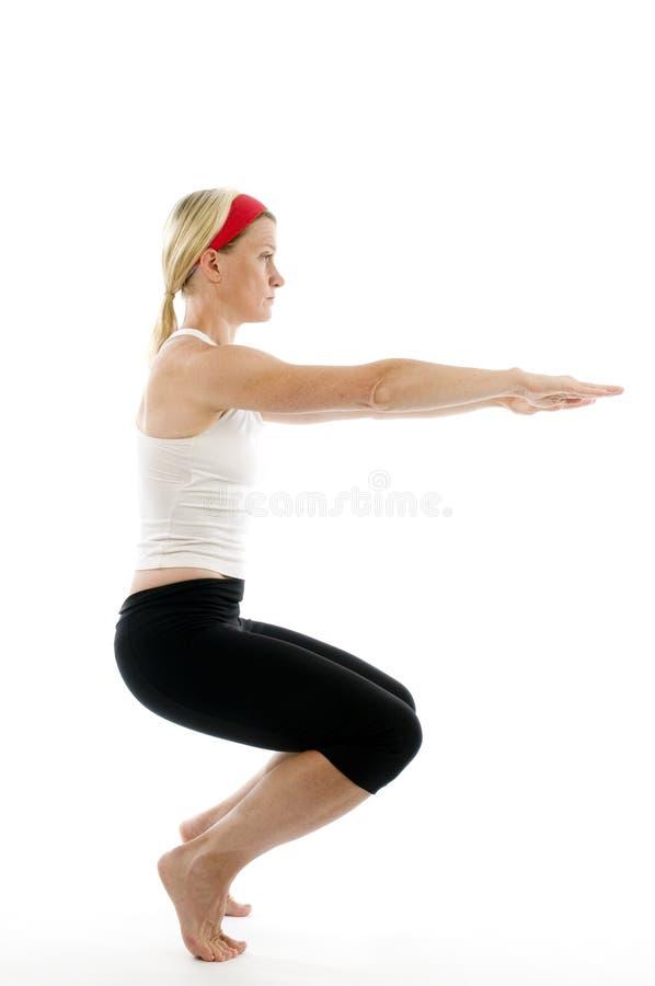 pozy niezręczny ilustracyjny joga obrazy royalty free
