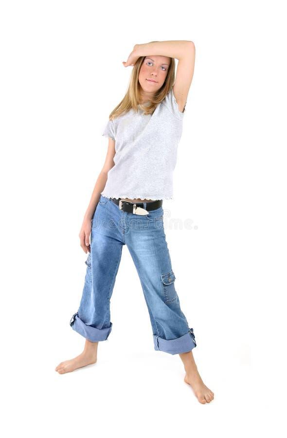pozycja dziewczyny zdjęcia stock