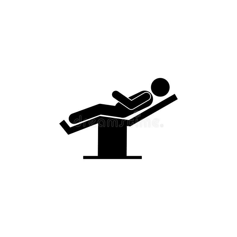 pozycja, mężczyzna, operacji ikona Element cierpliwa pozycji ikona dla mobilnych pojęcia i sieci apps Piktogram pozycja, mężczyzn ilustracji