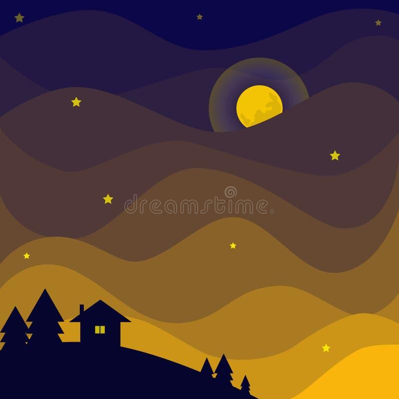 pozyskiwania ilustracyjny błyskawica nocne niebo zdjęcie stock