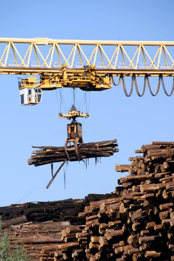 pozyskiwanie drewna dźwigowa obrazy royalty free