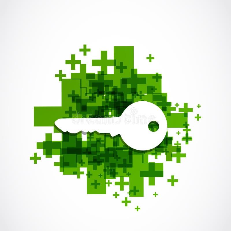 Pozytyw kluczowa ikona royalty ilustracja