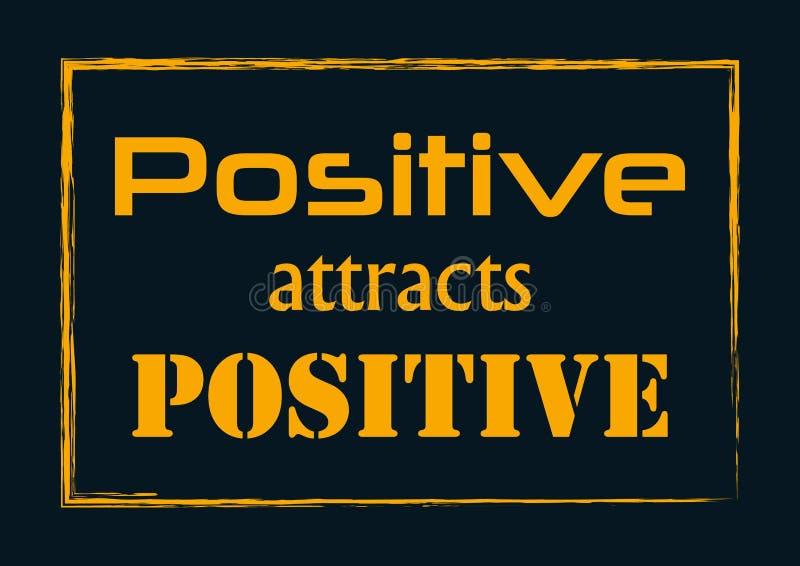 Pozytyw Przyciąga Pozytywną wycena zwrota wektoru ilustrację ilustracja wektor