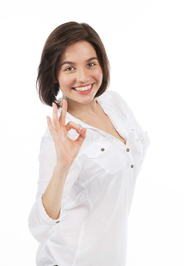 Pozytywna młoda kobieta zdjęcie stock