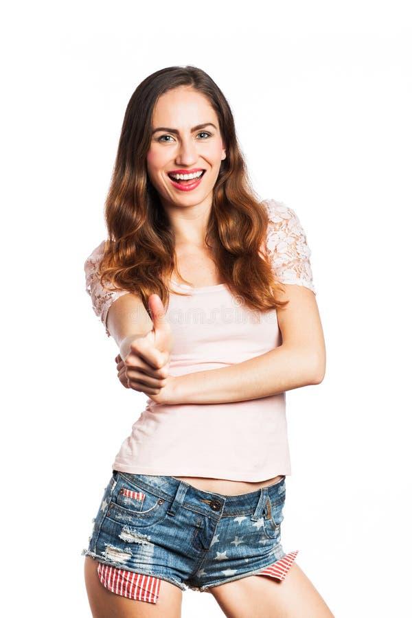 Pozytywna młoda kobieta zdjęcia royalty free