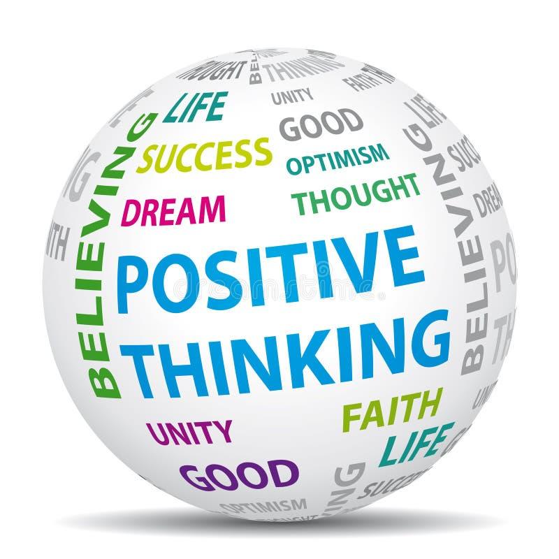 Pozytywny myślący świat. ilustracji