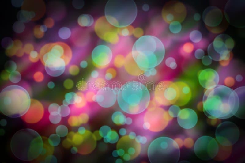 Pozytywny abstrakcjonistyczny tło z kolorowym bokeh zdjęcie royalty free