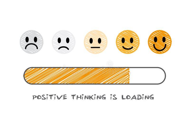 Pozytywny główkowanie ładuje - wektorowa ilustracja ilustracja wektor