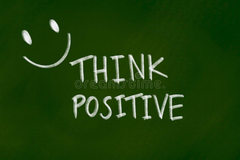 Pozytywny myślący tła pojęcie na zielonym chalkboard ilustracji