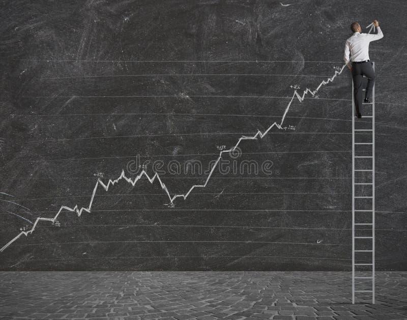 Pozytywny statystyczny trend obraz royalty free