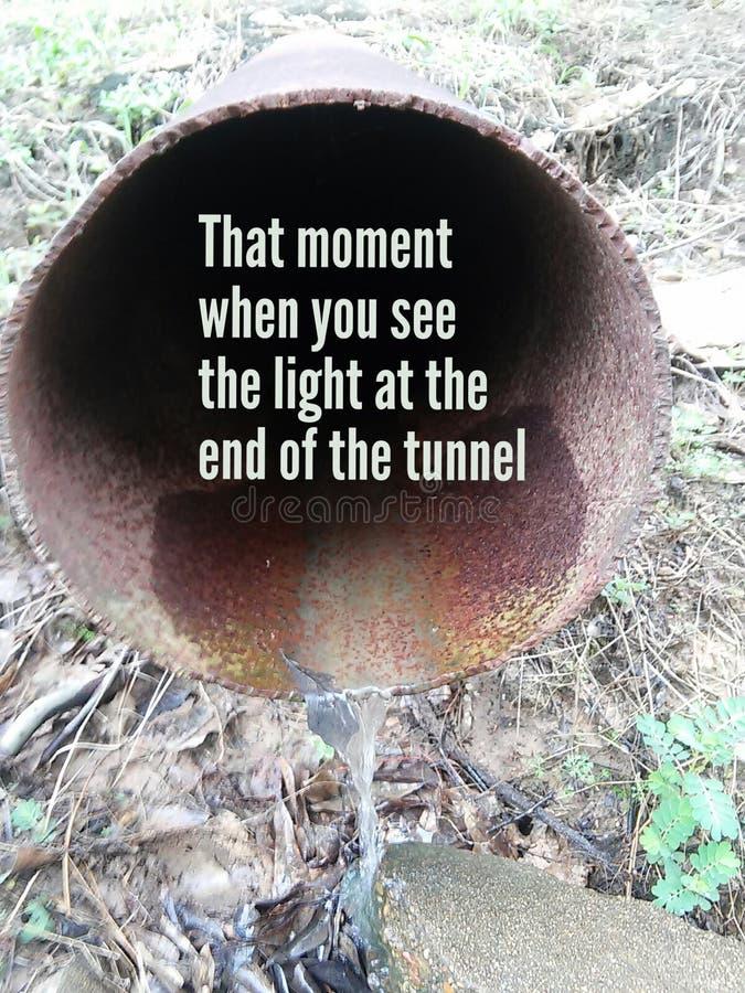 Pozytywny tunel zdjęcia stock