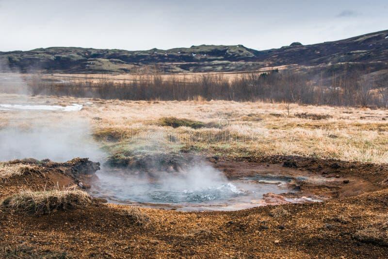 Pozza geotermica in Islanda fotografia stock libera da diritti