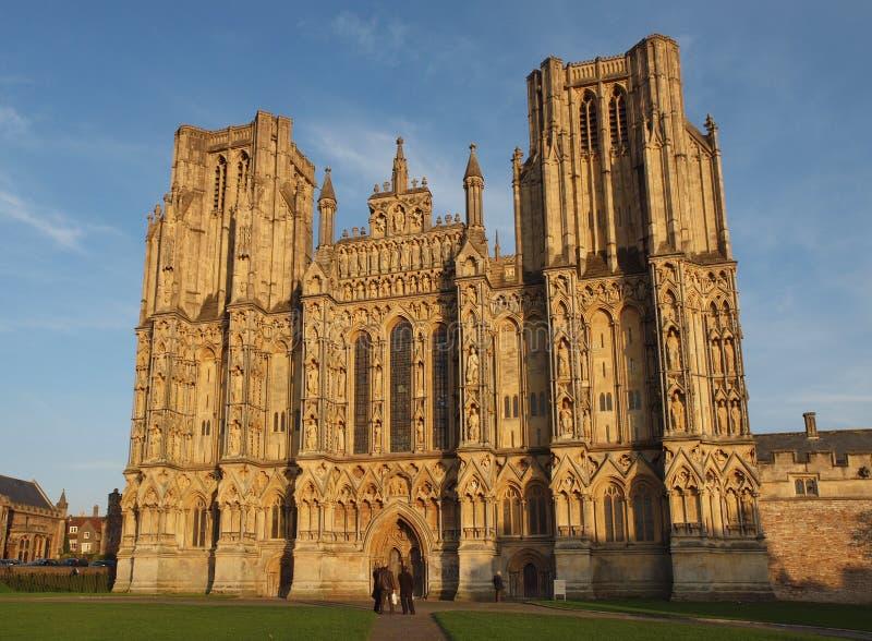 Pozzi cattedrale, Somerset, Inghilterra fotografie stock libere da diritti