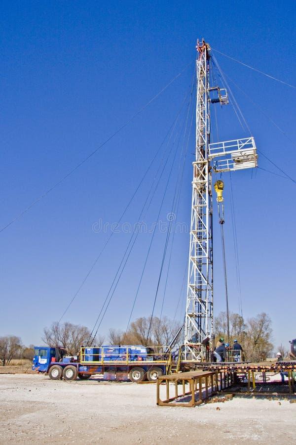 Pozzo di petrolio che tira Unit-6942 immagine stock libera da diritti