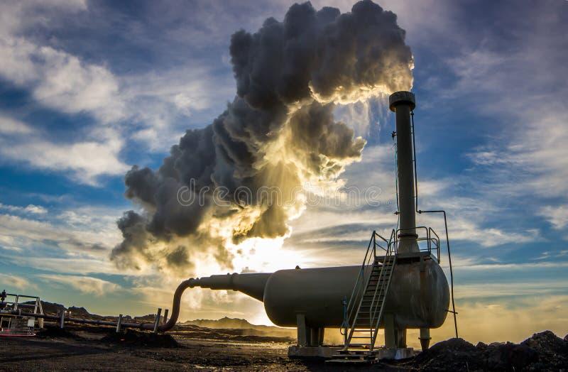 Pozzo trivellato geotermico immagini stock