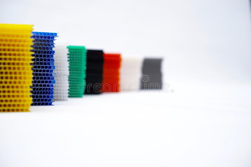 Pp corrugated plastic royalty free stock photos