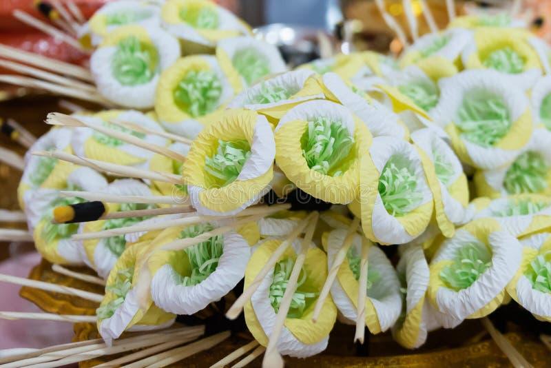 PPaper blommors Dok Mai Chan 'eller begravnings- blomma, royaltyfri fotografi