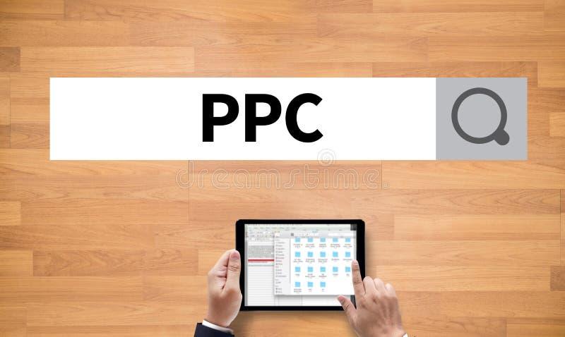 PPC -薪水每个点击概念 免版税库存图片