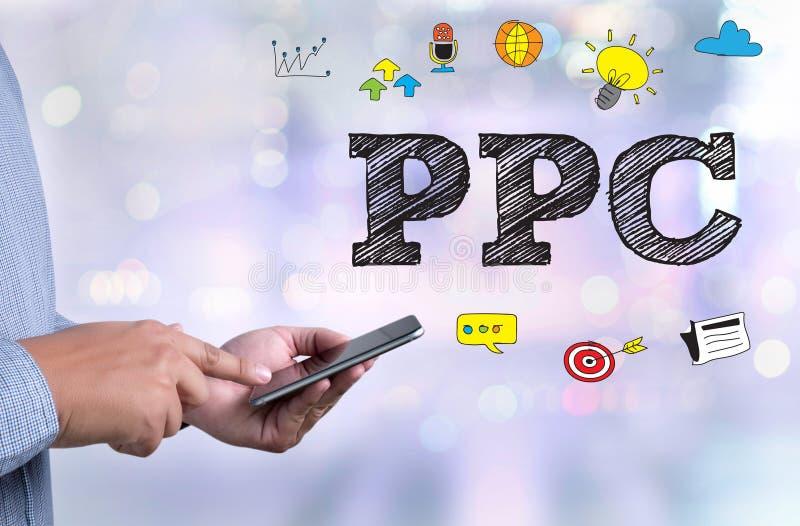 PPC -薪水每个点击概念 库存照片
