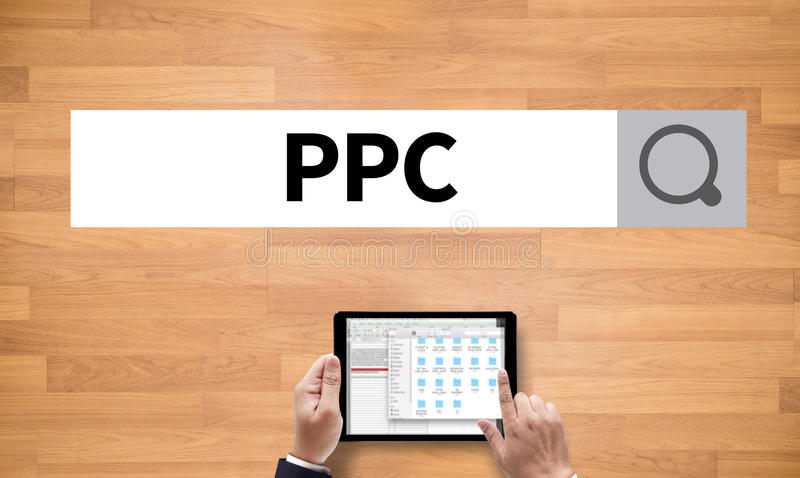 PPC - Bezahlung-pro-Klick- Konzept lizenzfreie stockbilder