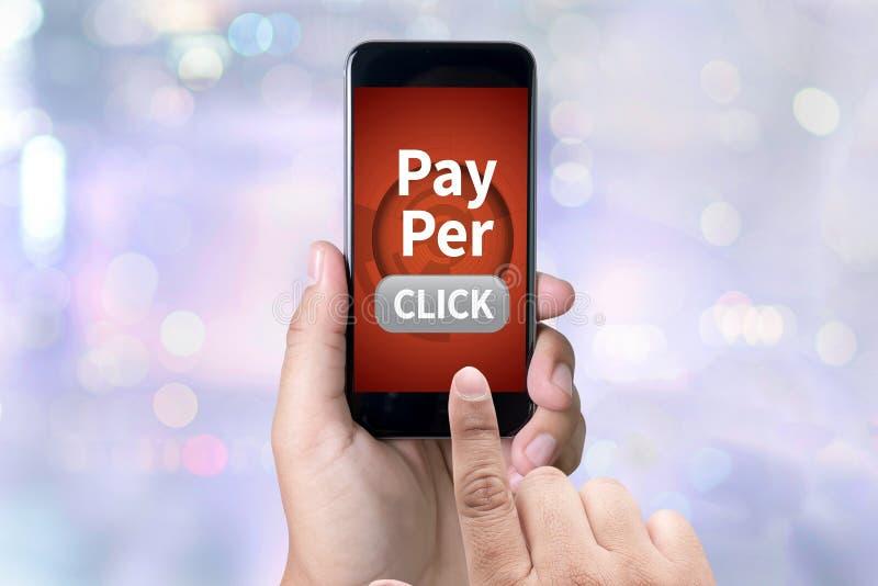 PPC - Bezahlung-pro-Klick- Konzept lizenzfreies stockbild
