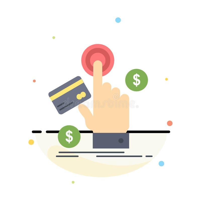 ppc, clique, pagamento, pagamento, vetor liso do ícone da cor da Web ilustração stock