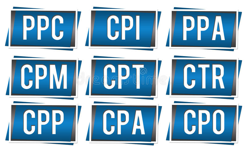 PPC Elementen royalty-vrije illustratie